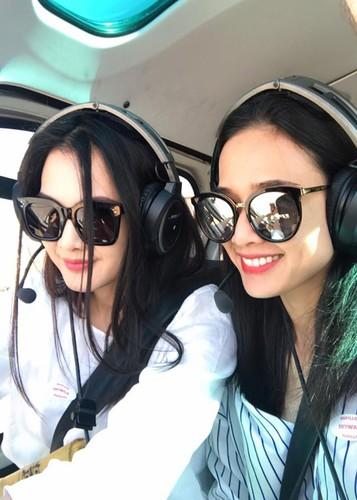Hot Face sao Viet 24h: Duong My Linh thich thu ngam canh tren truc thang-Hinh-3