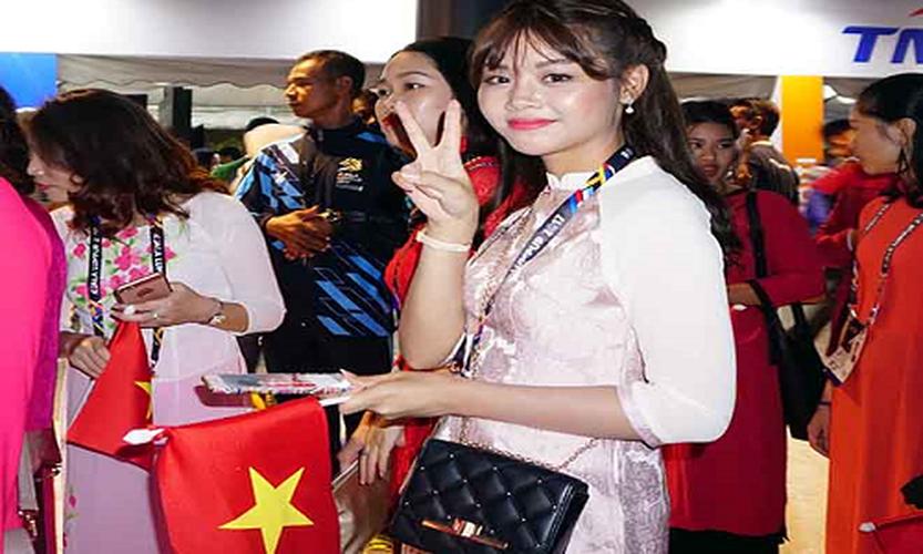 Khai mac SEA Games 29: Trai xinh gai dep doan Viet Nam toa sang-Hinh-10