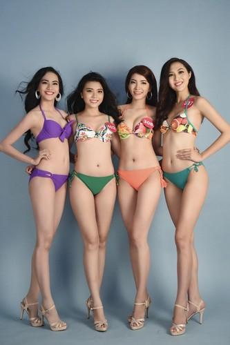 Thi sinh Hoa hau Hoan vu Viet Nam khoe dang voi bikini-Hinh-3
