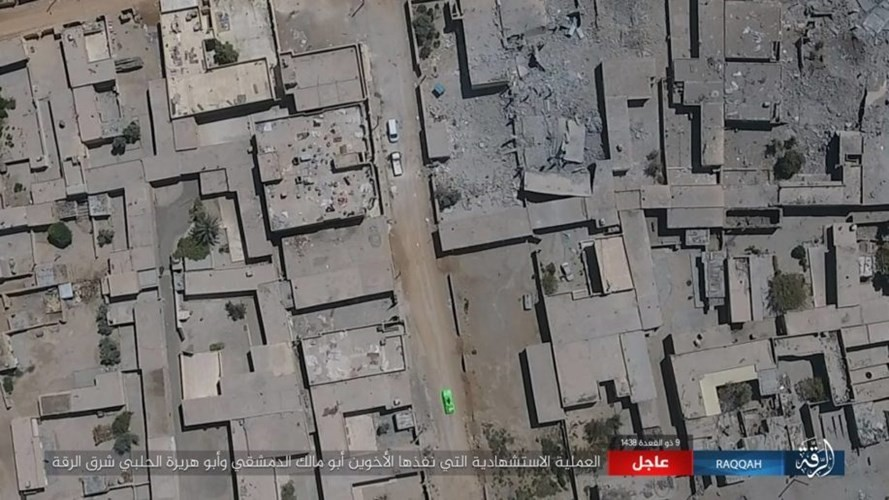 IS danh bom tu sat no tung khu nguoi Kurd o Raqqa-Hinh-6