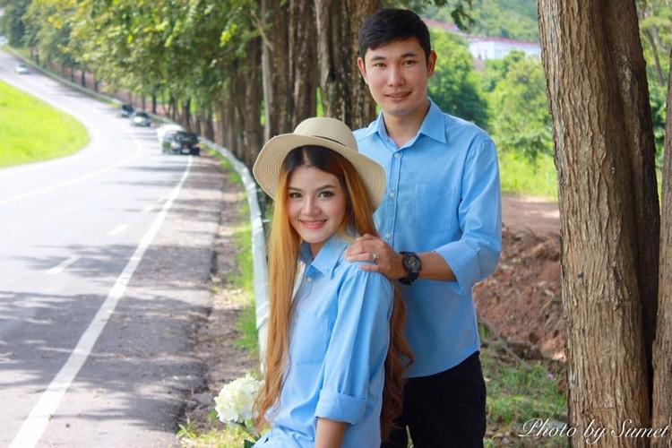 Co gai Thai xinh dep dinh hon ben di anh ban trai-Hinh-9