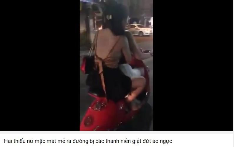 """Thieu nu mac mat me ra duong bi thanh nien """"gio tro"""""""