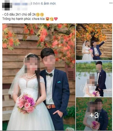 Anh cuoi co dau sinh nam 2001 va chu re 2000 gay choang