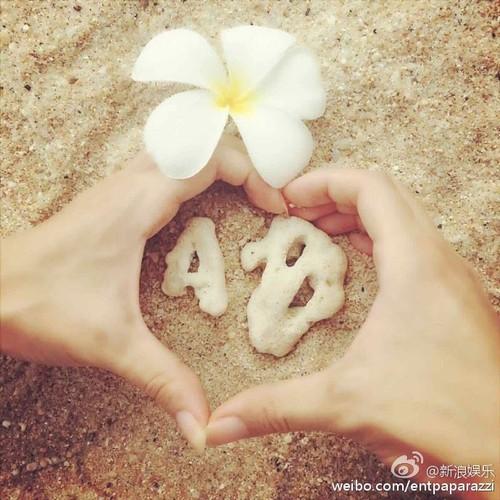 Huynh Hieu Minh dua vo bau Angelababy di nghi duong-Hinh-2