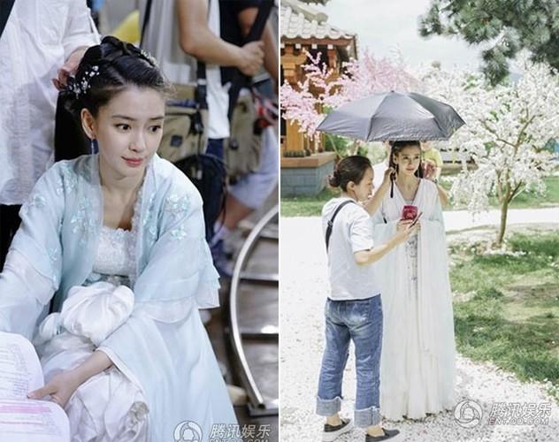 Angelababy bung bau van cuoi ngua dong phim khien fan phat hoang-Hinh-3
