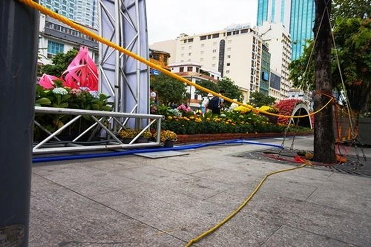 Hinh anh khong dep tren duong hoa Tet pho Nguyen Hue-Hinh-11
