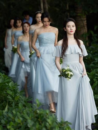 Luu Diec Phi lam phu dau xinh tuoi trong tiec cuoi ban than-Hinh-3