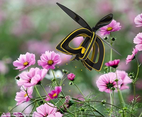 Kinh ngac nhung con ong robot co the thu phan cho hoa