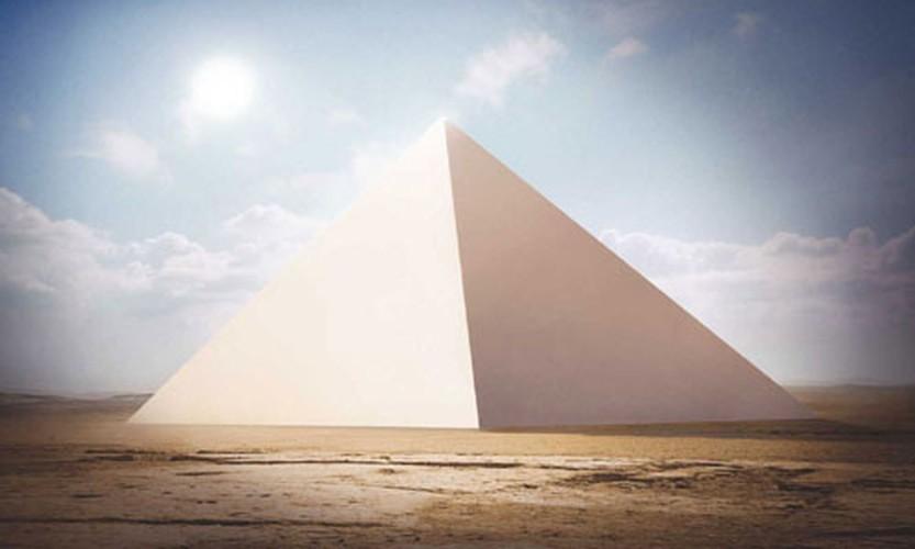 Dai kim tu thap Giza tung toa sang nhu mot ngoi sao