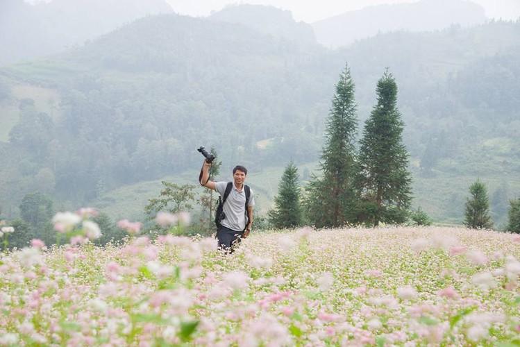 Ngam hoa tam giac mach no som o Bac Ha, Lao Cai-Hinh-6