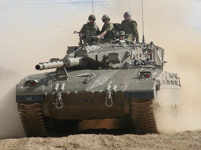 Kho tin tinh nang cho quan cua xe tang Merkava Israel