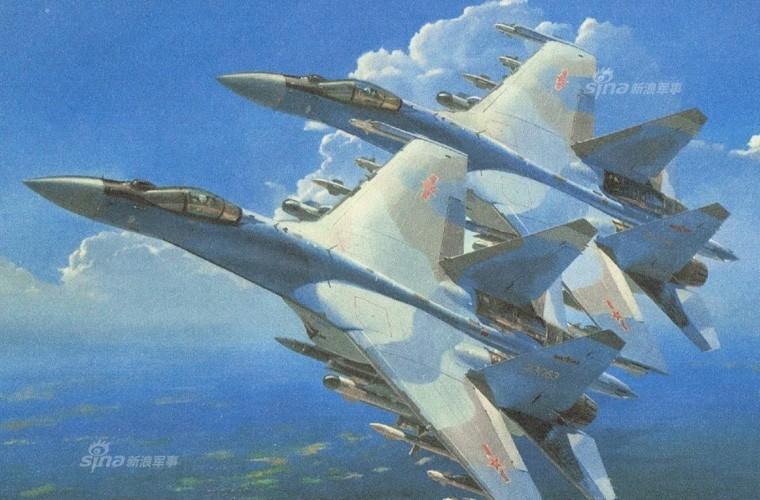 Bi an hinh anh tiem kich Su-35 cua KQ Trung Quoc-Hinh-4