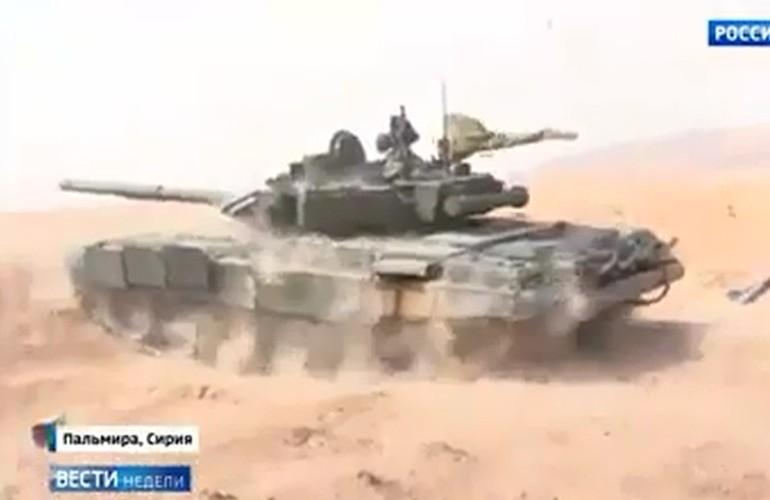Kinh ngac: Xe tang T-72B3 bat ngo tham chien o Palmyra, Syria-Hinh-3