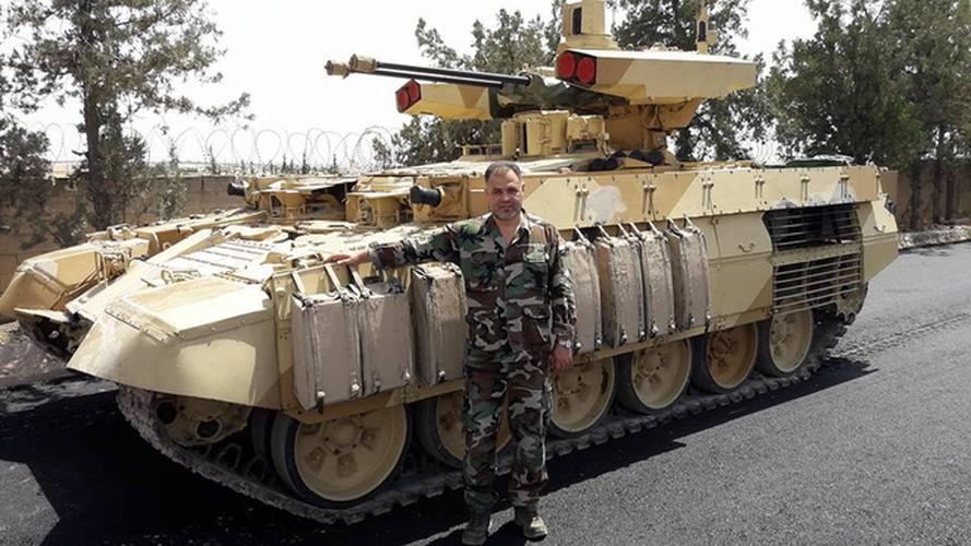 """Ke huy diet"" BMPT-72 ra tran o Syria, phien quan IS tan doi-Hinh-2"