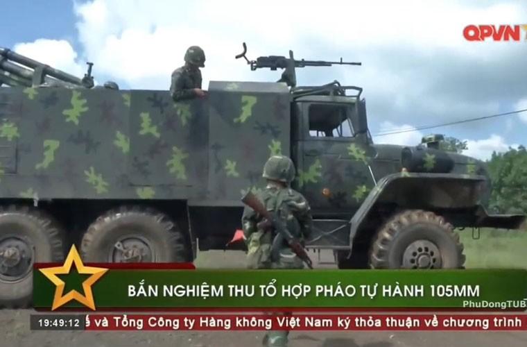 Viet Nam ban thu nghiem phao tu hanh 105mm kieu moi