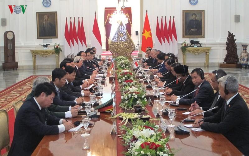 Toan canh le don chinh thuc Tong Bi thu Nguyen Phu Trong tai Indonesia-Hinh-9