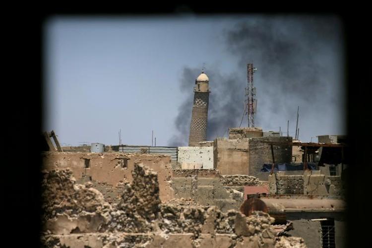 Chum anh luc luong an ninh Iraq tren chien tuyen Tay Mosul-Hinh-19