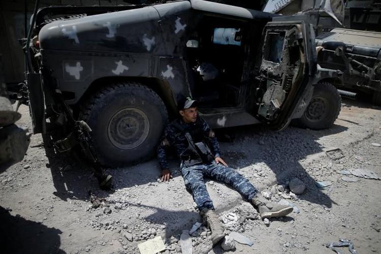 Chum anh luc luong an ninh Iraq tren chien tuyen Tay Mosul-Hinh-2