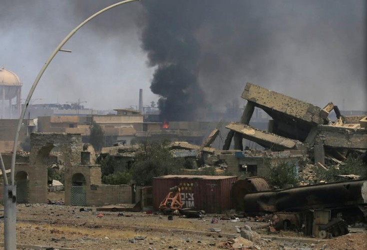 Chum anh luc luong an ninh Iraq tren chien tuyen Tay Mosul-Hinh-6