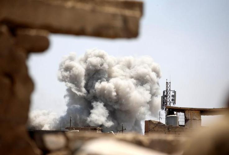 Chum anh luc luong an ninh Iraq tren chien tuyen Tay Mosul
