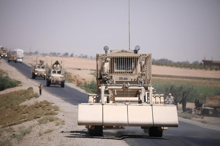 Chum anh binh si My hoat dong ben trong lanh tho Syria