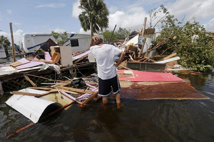 Muc do tan pha khung khiep cua con bao Irma o Florida