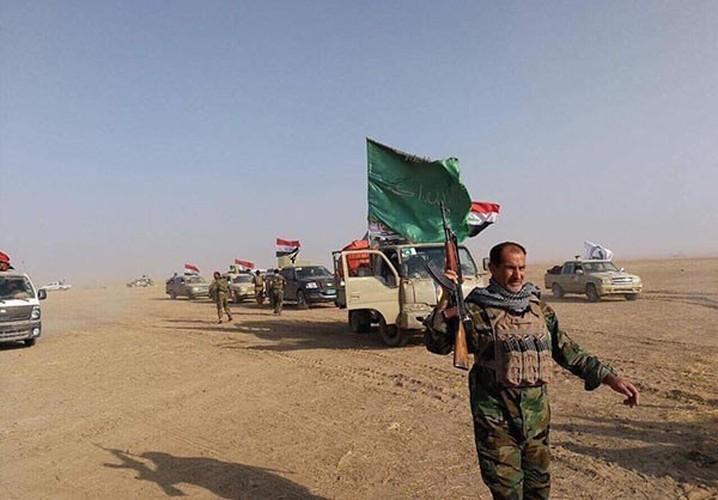 Chum anh Quan doi Iraq giai phong khu vuc Hawija