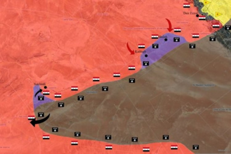 Quan doi Syria chao dao o phia tay Deir Ezzor