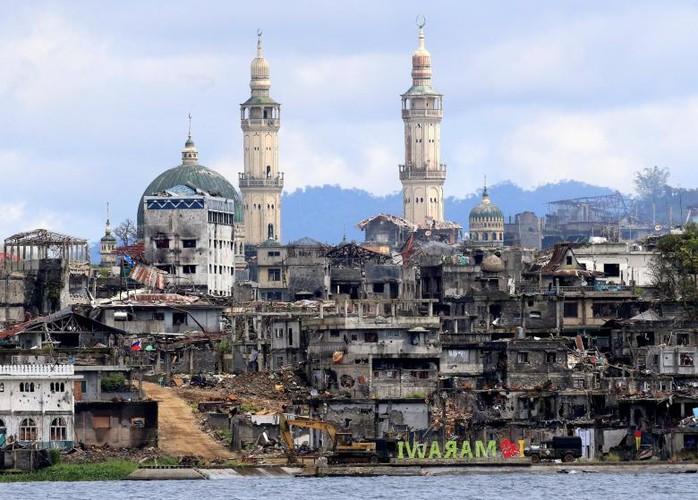 Anh: Thanh pho Marawi bi pha huy trong cuoc chien chong IS-Hinh-2