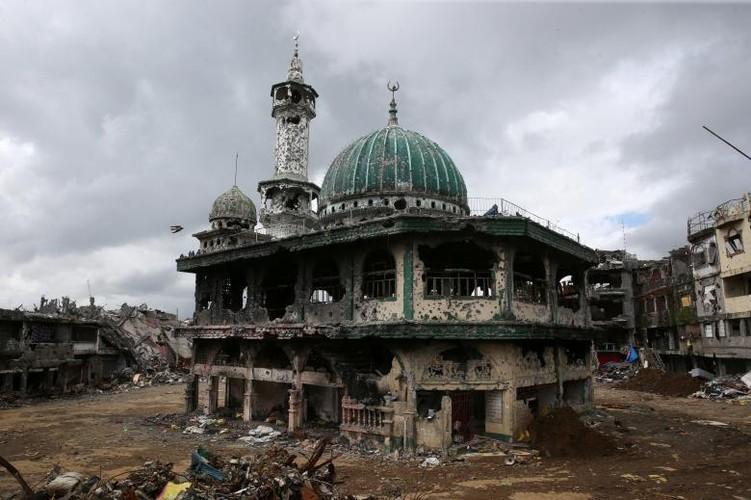 Anh: Thanh pho Marawi bi pha huy trong cuoc chien chong IS-Hinh-3