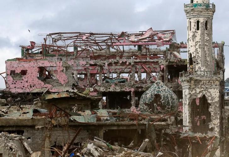 Anh: Thanh pho Marawi bi pha huy trong cuoc chien chong IS-Hinh-4