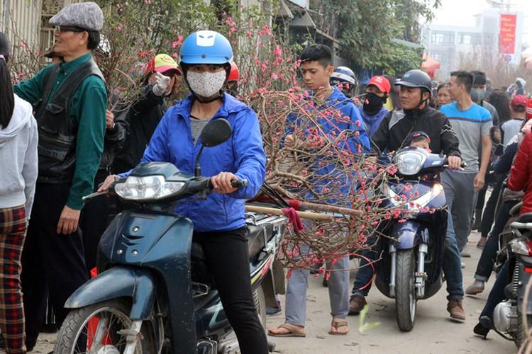 Nguoi Ha Noi chen nhau nghet tho o cho hoa ngay 29 Tet-Hinh-9