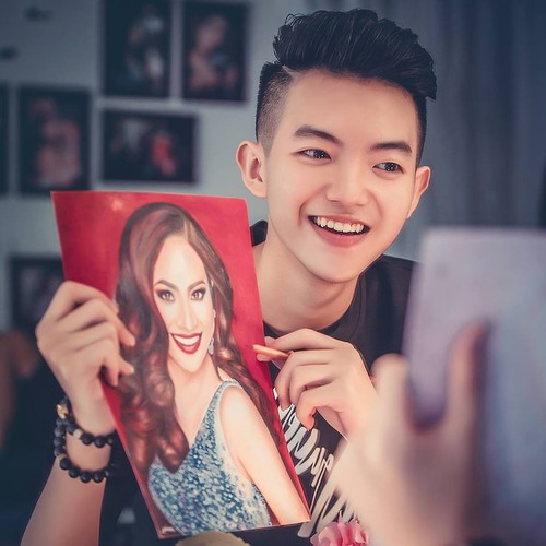 Hot boy xu Nghe len bao My nho tai ve tranh truyen than-Hinh-3