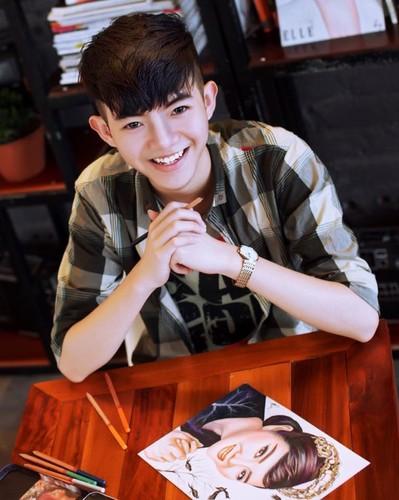 Hot boy xu Nghe len bao My nho tai ve tranh truyen than-Hinh-5