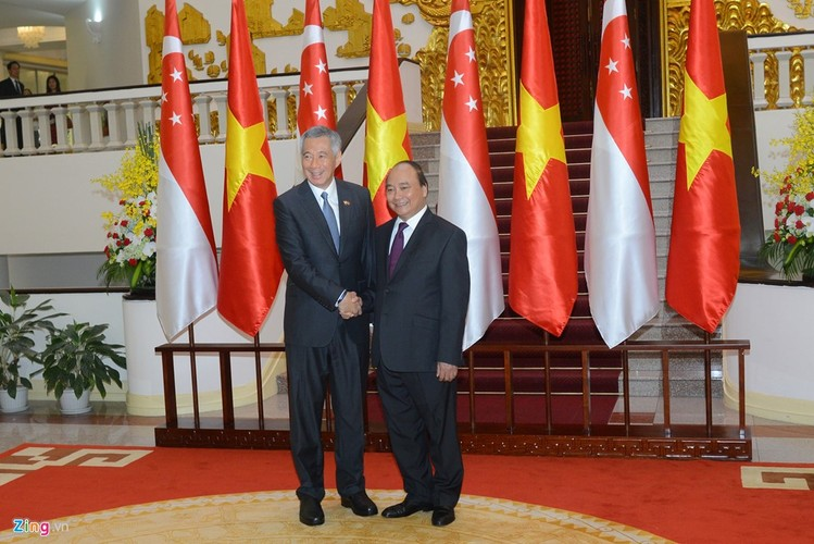 Anh: Thu tuong Nguyen Xuan Phuc tiep Thu tuong Singapore Ly Hien Long-Hinh-5