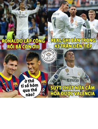 Anh che bong da: Sieu nhan Ronaldo khong the cuu Real Madrid
