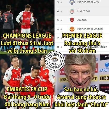 Anh che bong da: Arsenal hoa Kong truoc doi bong nho-Hinh-2