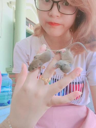 Kinh hai co gai Nghe An bat chuot dong lam thu cung-Hinh-2