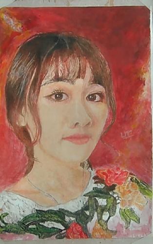 Nu sinh Vung Tau co tai ve tranh bang... tuong ot-Hinh-2