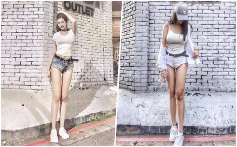 Chan dai hon 1m nhung lung lai ngan, hot girl gap phien toai