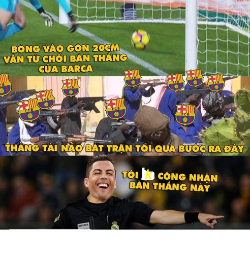 "Anh che bong da: Trong tai Ronaldo ""cuop"" ban thang cua Messi-Hinh-2"