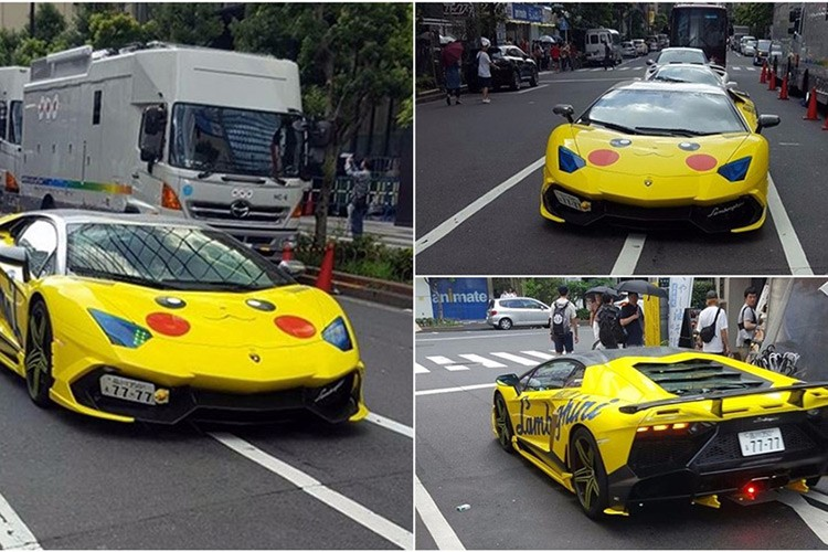 Den ca sieu xe Lamborghini Aventador cung do