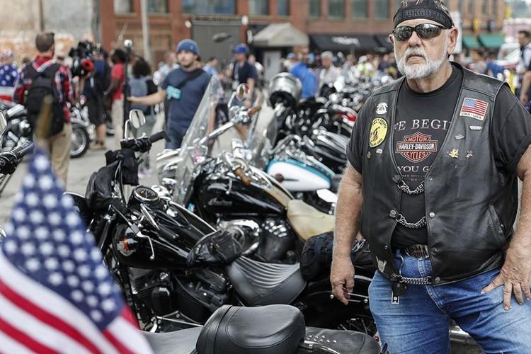 Hang nghin dan choi moto Harley-Davidson ung ho Trump-Hinh-4