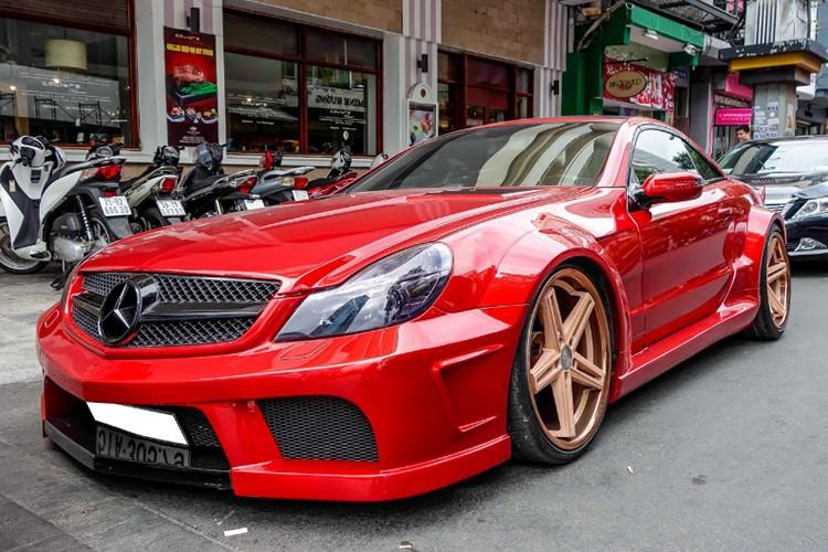 "Xe the thao tien ty Mercedes SL55 ""do ruc"" tai Sai Gon-Hinh-11"