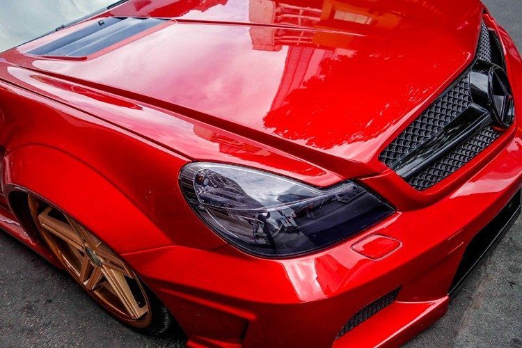 "Xe the thao tien ty Mercedes SL55 ""do ruc"" tai Sai Gon-Hinh-3"