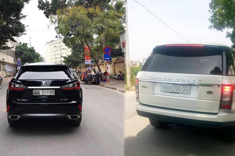 "Range Rover 8 ty ""muon"" bien 9999 Lexus RX350 dao pho"