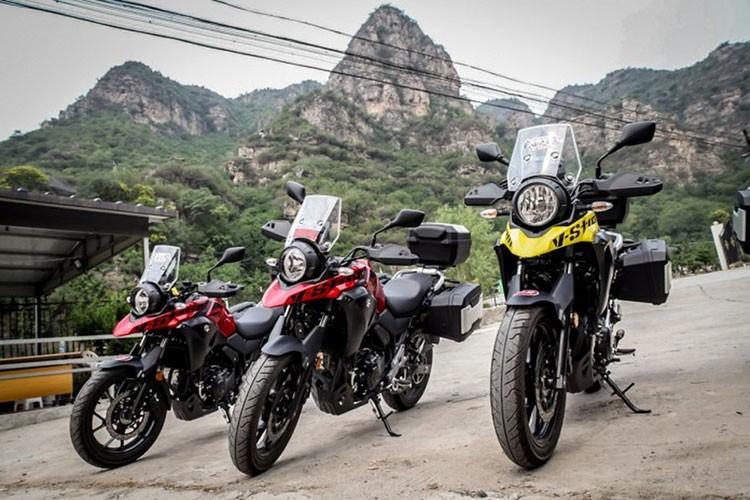 """Xe moto Suzuki V-Strom 250 """"chot gia"""" 136 trieu dong"""
