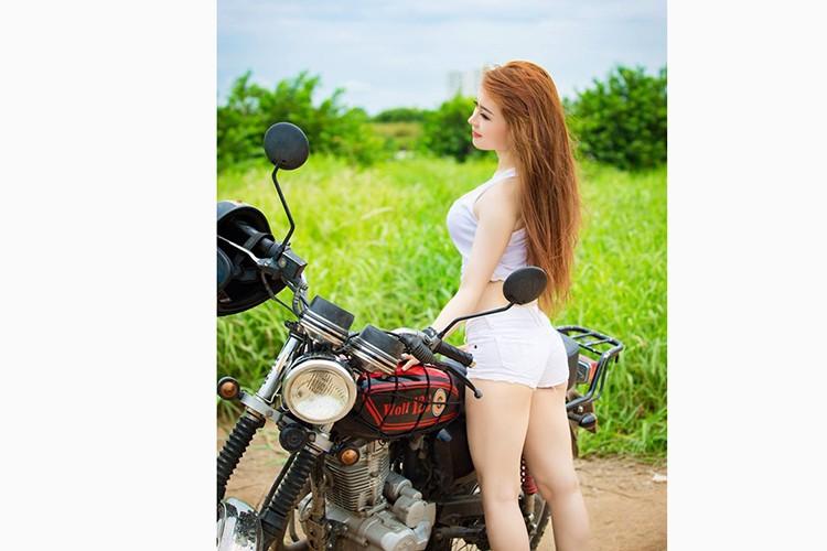 "Nguoi dep Viet do dang ""soi gia"" SYM Wolf 125-Hinh-2"