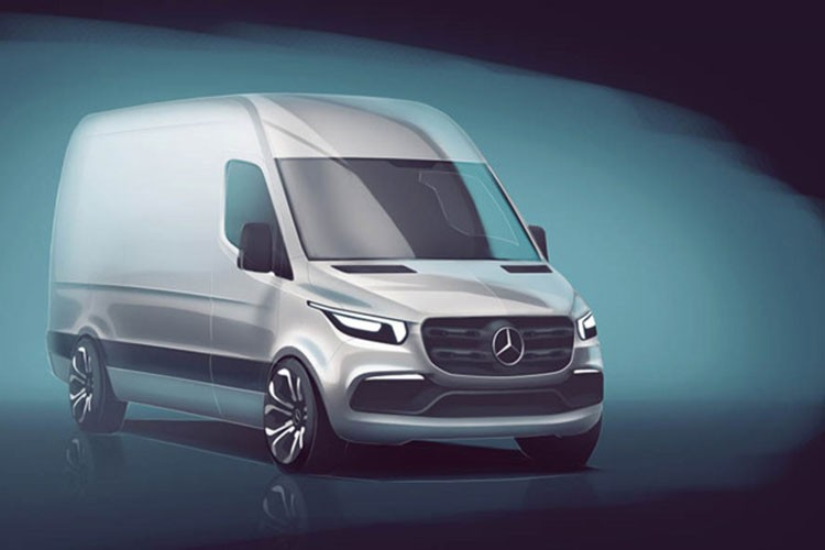 "Mercedes-Benz ""nha hang"" xe oto VAN Sprinter the he moi"