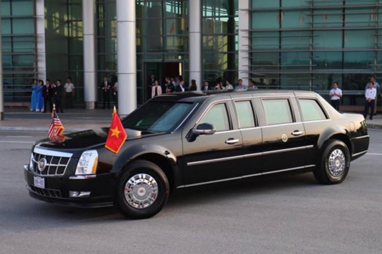 Sieu xe Cadillac One don Tong thong Donald Trump tai Ha Noi-Hinh-2